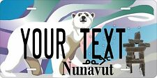 Nunavut 2012 license plate Personalized Auto Car Custom VEHICLE OR MOPED