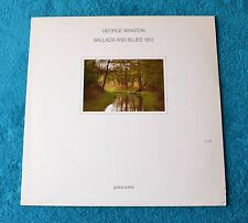 "George Winston / Ballad And Blues 1972 / 1981 Windham Hill Records 12""LP"