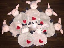 4Stück- Babywelt Rossmann Schmusetuch Kuscheltuch Esel Hase Pferd Grau Grey Herz