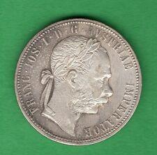 AUSTRIA 1 FLORIN 1880 SILVER COIN 869