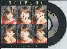 INGEBORG - Zalen vol muziek CD SINGLE 2TR CARDSLEEVE 1992 BELGIUM
