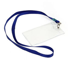 10x Name Tag Employee School ID Work Badge Card Holder Lanyard Neck Strap Clear