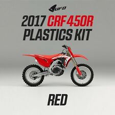Honda CRF 450 Motocross MX Plastic Kit 2017 All Red UFO With Air Box Cover