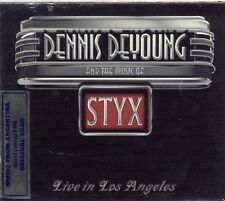 2 CD + DVD SET DENNIS DEYOUNG AND THE MUSIC OF STYX LIVE IN LOS ANGELES SEALED