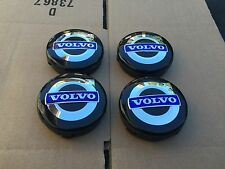NEW 4PC SET OF 4 VOLVO BLACK & BLUE CENTER WHEEL HUB CAPS COVER LOGO RIM 3546923