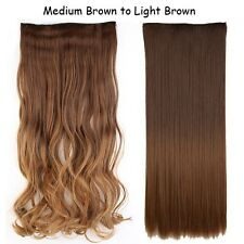 100% Real Natural Clip in Hair Extensions Ombre Long For Human Hair Piece B910