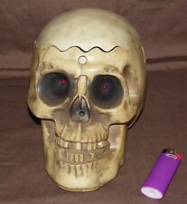 Gemmy Skeleton Talking Motion Activated Candy Dish Opening Skull & Light up Eyes