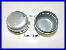 "(2) Trailer 1.98"" Grease Cover Dust Cap 2k 3.5k 3,500 lb Axle Hub FREE SHIPPING!"