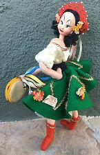 Vintage Klumpe Felt and Cloth Doll Tagged Gypsy