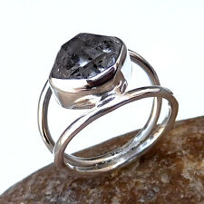 One of Kind HERKIMER DIAMOND Natural Gemstone Rings Fine Silver Diamond Rough