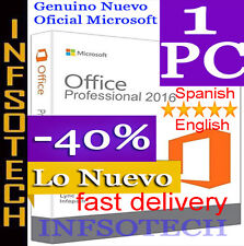 Microsoft Office 2016 Professional Plus-1 PC Download Link-Key-Instant Delivery