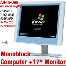 "43CM 17"" ADVANTECH POC-174 MONOBLOCK ALL-IN-ONE COMPUTER 80GB HDD 1,2GB RS-232"