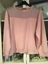 801 Caleidoscopio Plus SZ 22/24 Rosa Scuro Floreale in Rilievo Semi Sheer Jumper