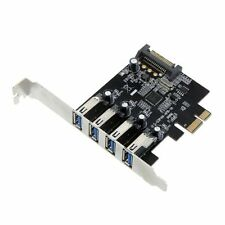 USB 3.0 PCI Express Kontroller Karte Adapter SATA-Stromstecker Low Profile ET