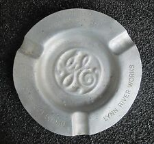 VINTAGE GE GENERAL ELECTRIC LYNN RIVER WORKS ALUMINUM ASHTRAY OPEN HOUSE 1949