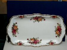 "Royal Albert Old Country Roses"" ""Pastel/bandeja de sandwich - 1ST qual-hecho en ENG"
