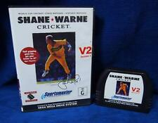 Sega Mega Drive Console Game SHANE WARNE CRICKET V2 VERSION 2 Cartridge & Box