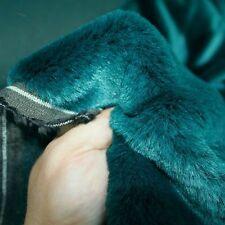 petrol blau Nerz Kunstfell   Meterware für Decke Jacke Mantel weicher Kunstpelz