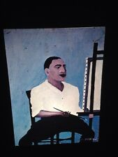 """Horace Pippin """"Self Portrait"""" African-American Modern Naive Art 35mm Slide"""