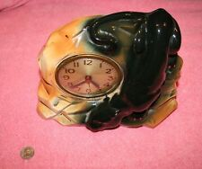 Vintage Black Panther Ceramic Sessions Clock
