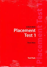 OXFORD PLACEMENT TEST 1: Test Pack / DAVE ALLAN @BRAND NEW, SEALED@