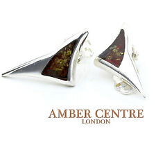 Baltic Amber Clip on Earrings 925 Silver Handmade - CL006 RRP£45