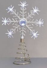 LED Christmas Tree Topper Star Tree Top Snowflake LED Cool White NEW