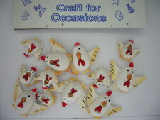 Card Making Embelishments - C803 Wooden Chickens (12 pieces)