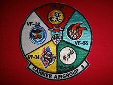 US Navy Carrier Air Group 3 With VF-31, VF-32 ,VF-33, VF-34 And VF-35 Patch