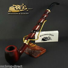 "Mr.Brog original LONG smoking pipe nr.15 brown SW ""Bent Albert "" Hand made in EU"