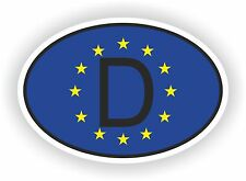 OVAL EUROPEAN UNION FLAG CON D Codice paese Adesivo Germania Motocycle auto