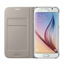 Samsung Galaxy S6  FLIP CASE WALLET GOLD EF-WG920PFEG NEW CARD POCKET 24 Hr Post
