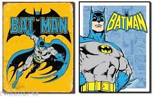 Retro Batman Set TIN SIGN metal poster vintage superhero wall art home bar decor