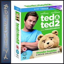 TED & TED 2 - EXTENDED EDITIONS *BRAND NEW BLU-RAY REGION FREE*