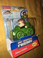2011 Fisher Price Little People DC Super Friends Wheelies Green Lantern New