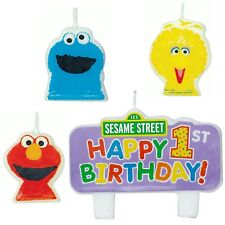 New Sesame Street Elmo 1st Birthday Candle Set (4ct)  ~Party Favor Supplies~