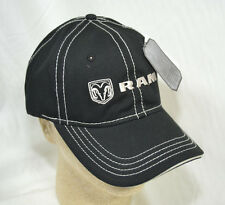 Dodge Ram Logo Black & Silver Threading Licensed Baseball Cap Hat NEW