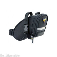Topeak Micro Aero Wedge TC2471B Bike Seat Bag Black Saddle Pack QR Straps Strap