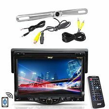 "Pyle 7"" LCD Monitor Bluetooth CD Mp3 Radio, Pyle Zinc Metal Rear Back Up Camera"