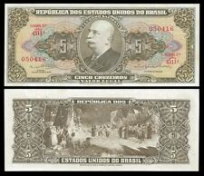 Brazil 5 CRUZEIROS Sign 14 ND (1962-64) P 176d UNC