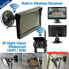 "Wireless IR Night Vision Rear View Back up Camera System+5"" Monitor for RV Truck"