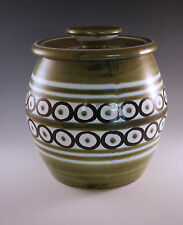 MID CENTURY, RETRO  ITALIAN POTTERY FOR RAYMOR COOKIE OR BISCUIT JAR, BARREL