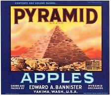 APPLE CRATE LABEL YAKIMA PYRAMID NILE EGYPT VINTAGE ORIGINAL 1930S ADVERTISING