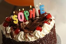 Alphabet LITTLE LADY Birthday Girl Letter Candles Personalized Name In Lights