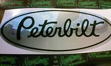 1 PETERBILT DECAL Vinyl Decal Sticker Wall Truck Car SEMI WINDOW CAB CHROME BLCK