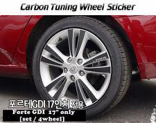 """Carbon Tuning Wheel Mask Sticker For Kia  Forte GDi / Cerato 17"""" [2009~2013]"""