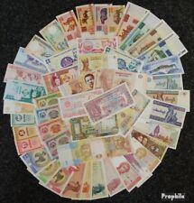Alle Welt 50 verschiedene bankfrische Banknoten