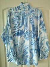 Mens Etro Button up blue/white size L