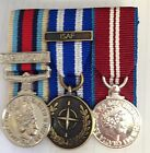 OSM AFGHANISTAN, NATO ISAF, QUEENS DIAMOND JUBILEE MINIATURE COURT MOUNTED MEDAL