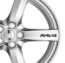 8 x RAV 4 Alloy Wheels Decals Stickers Adhesives 235 60 Tyre
